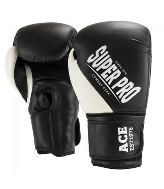 Super Pro Boxing Gloves ACE White