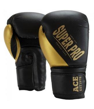 Super Pro Boxing Gloves ACE Gold