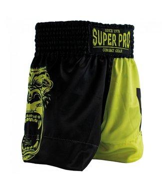 Super Pro Gorilla Muay Thai Shorts Kids Yellow