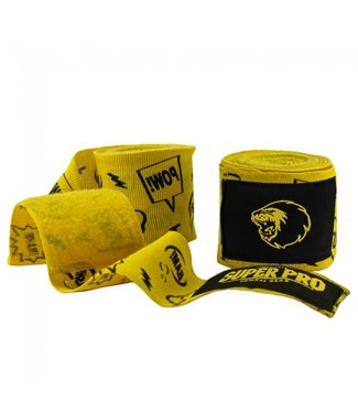Super Pro Hand Wraps Pang/Paw Yellow