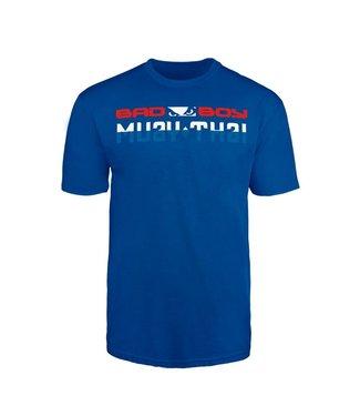 Bad Boy T-shirt Muay Thai Discipline Blauw