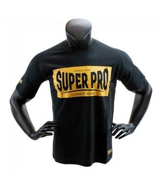 Super Pro T-shirt Block Logo Zwart