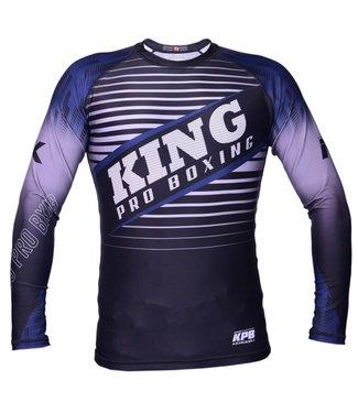 King Rashguard Stormking 3 Blauw