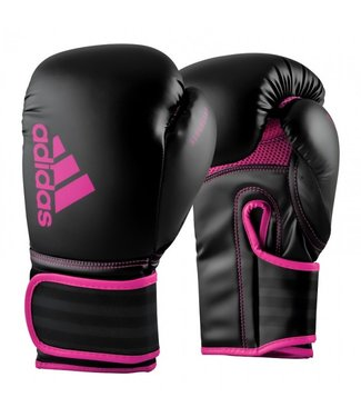 Adidas Hybrid 80 Bokshandschoenen Zwart/Roze