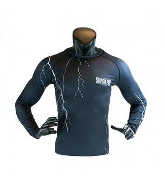 Super Pro Compressie Shirt Thunder Zwart