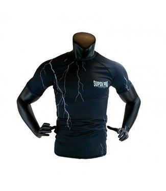 Super Pro Compressie Shirt Short Sleeve Thunder Zwart
