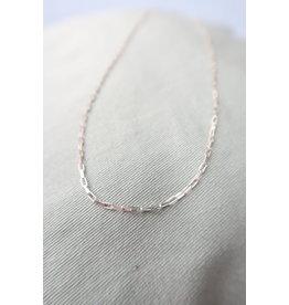 Halsketting met hoekige schakel, 48cm, zilver