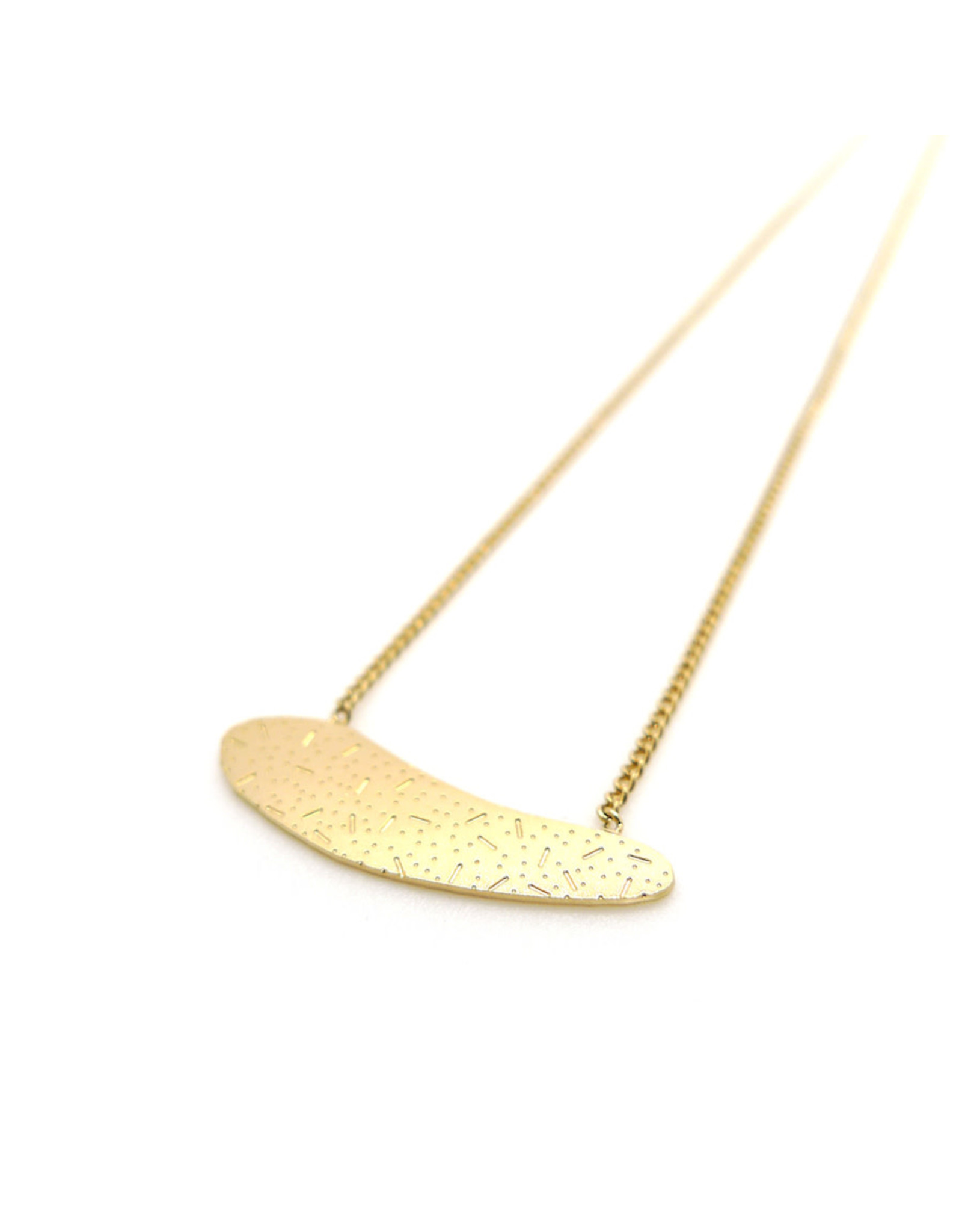 Nadja Carlotti Necklace Sediment, gold plated