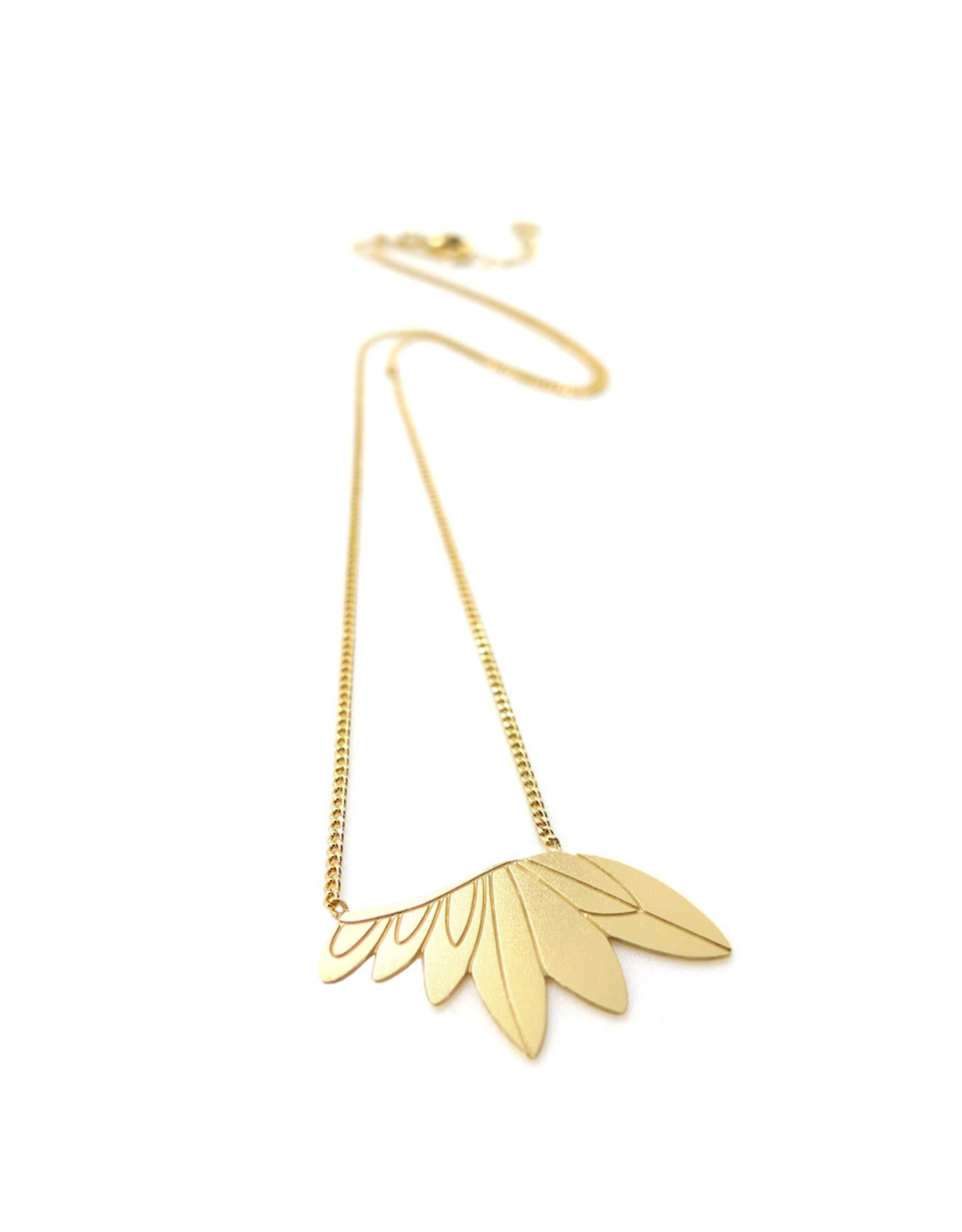 Nadja Carlotti Necklace feathers, gold plated