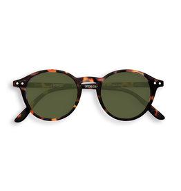Izipizi Zonnebril - #D - Tortoise, Green Lenses