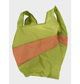 Susan Bijl Shopping Bag L - Groen / Bruin