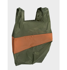 Susan Bijl Shopping Bag L - Kaki groen / Bruin