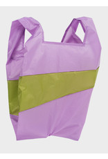 Susan Bijl Shopping Bag L - Lilac / Groen