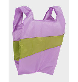 Susan Bijl Shopping Bag L - Lilac / Groen