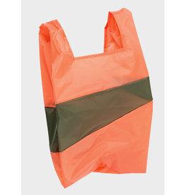 Susan Bijl Shopping Bag L - Oranje / Kaki groen