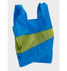 Susan Bijl Shopping Bag L - Blauw / Groen