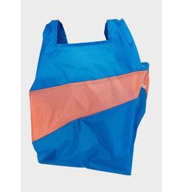 Susan Bijl Shopping Bag L - Blauw / Oranje