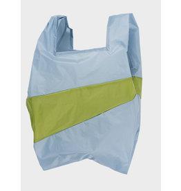 Susan Bijl Shopping Bag L - Licht blauw / Groen
