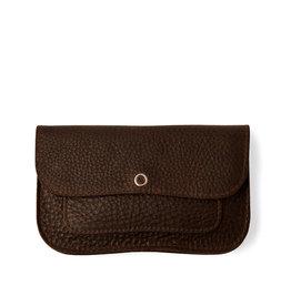 Keecie Cat chase medium wallet dark brown used look