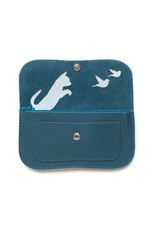 Keecie Cat chase medium wallet faded blue