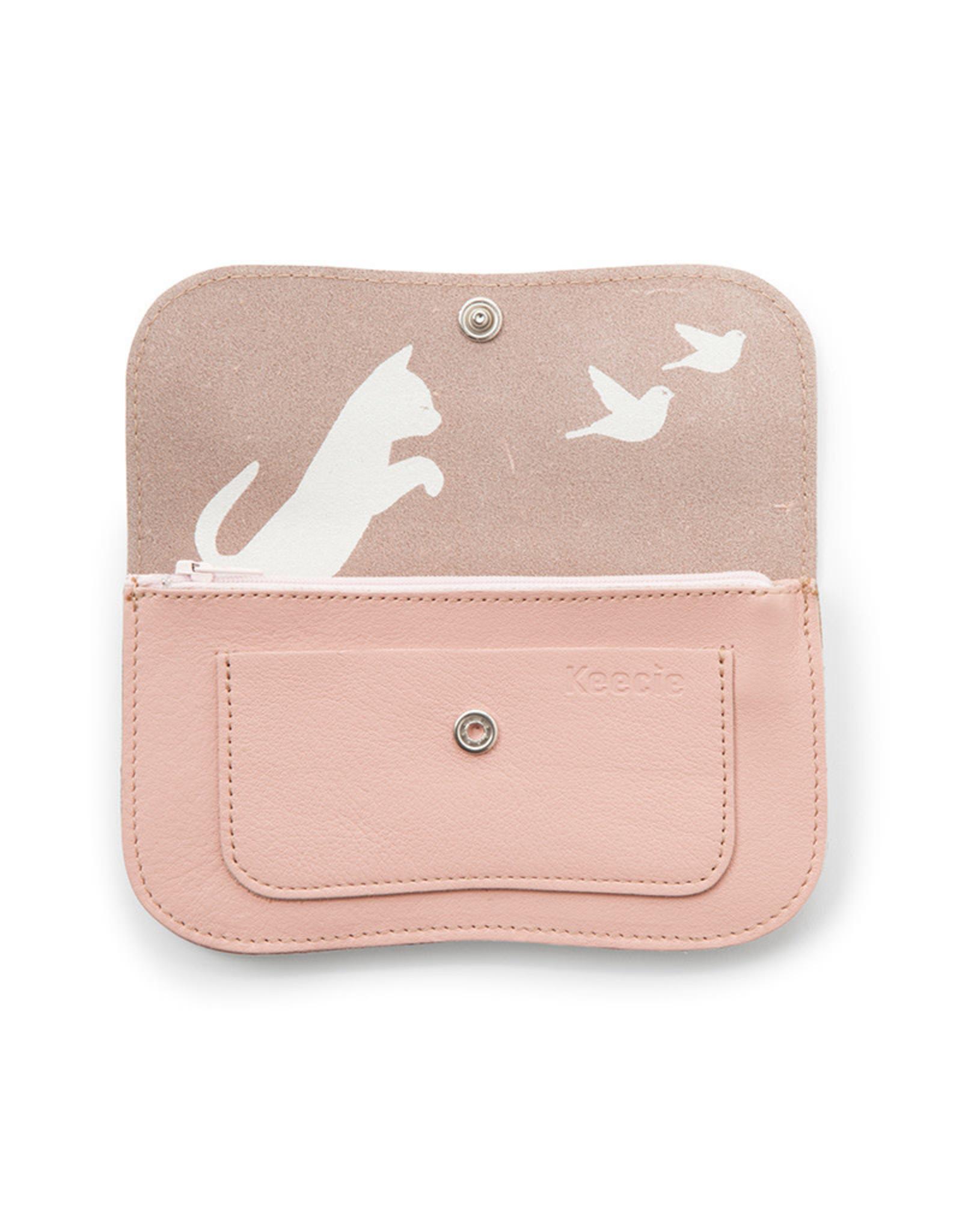Keecie Cat chase medium wallet pink