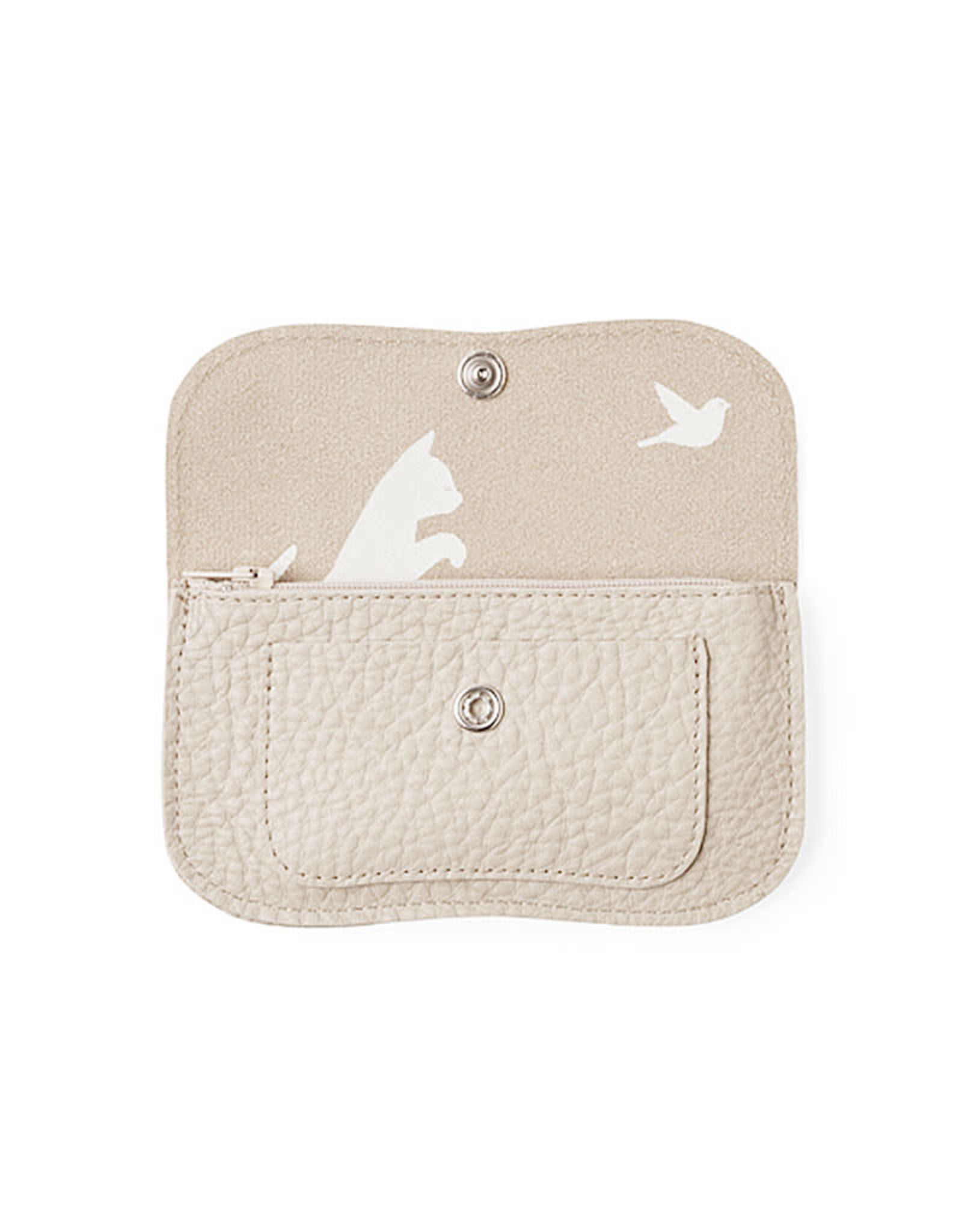 Keecie Cat chase small wallet cement