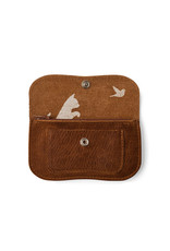 Keecie Cat chase small wallet cognac used look