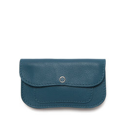 Keecie Cat chase small wallet faded blue
