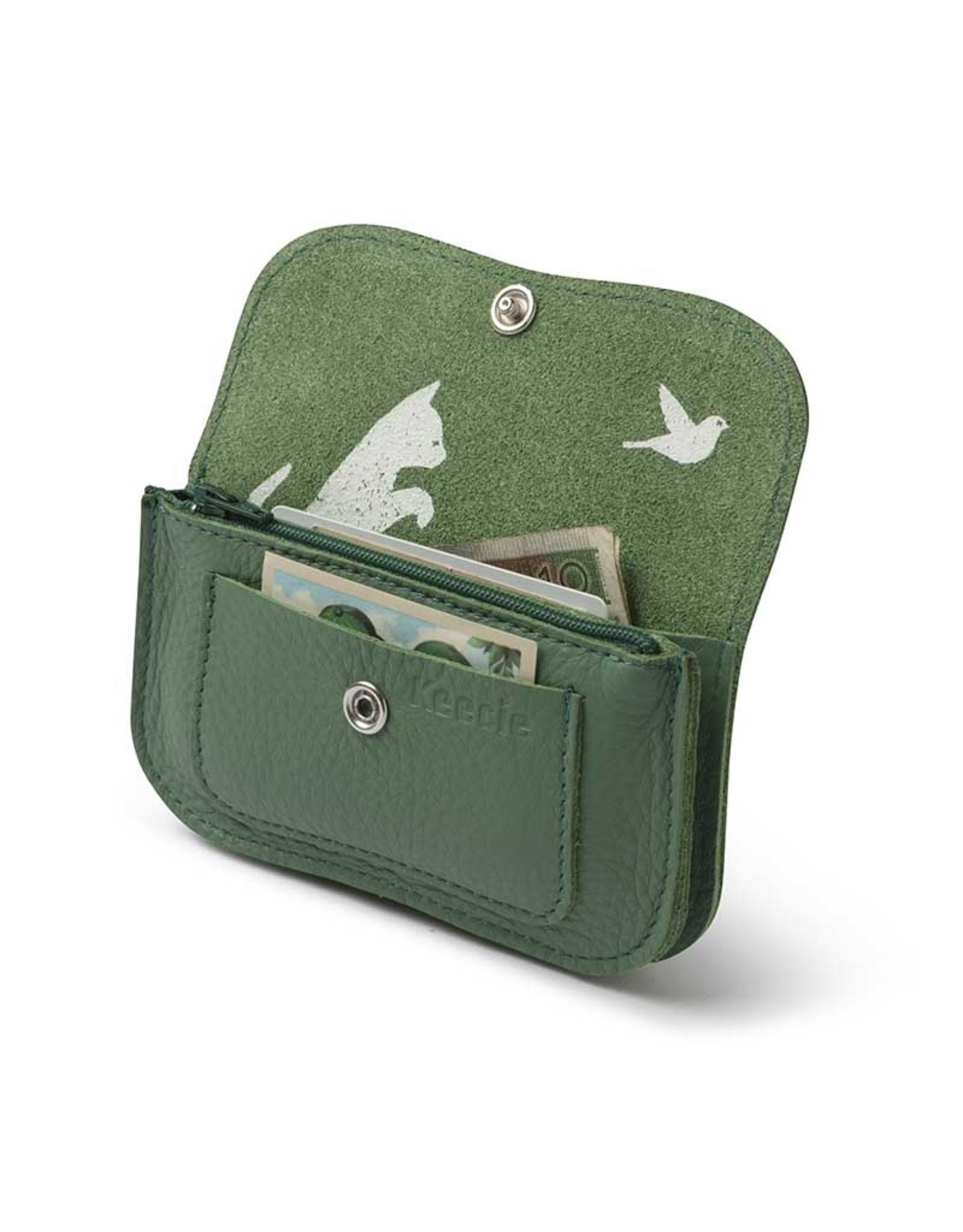 Keecie Cat chase small wallet forest