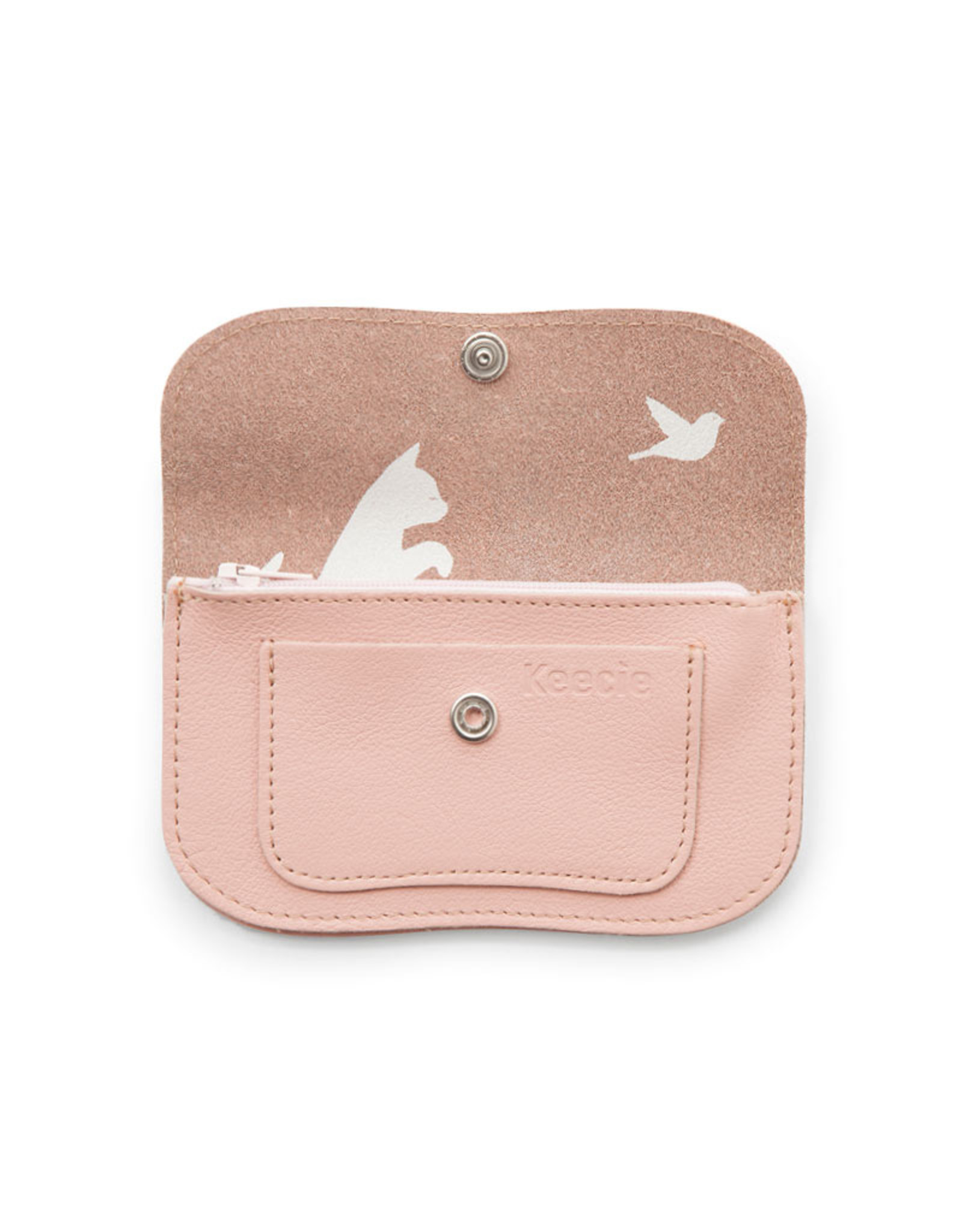 Keecie Cat chase small wallet pink
