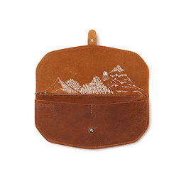Keecie Move mountains wallet cognac used look