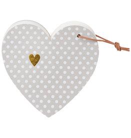 Raeder Heart notes dots 13x12x2cm