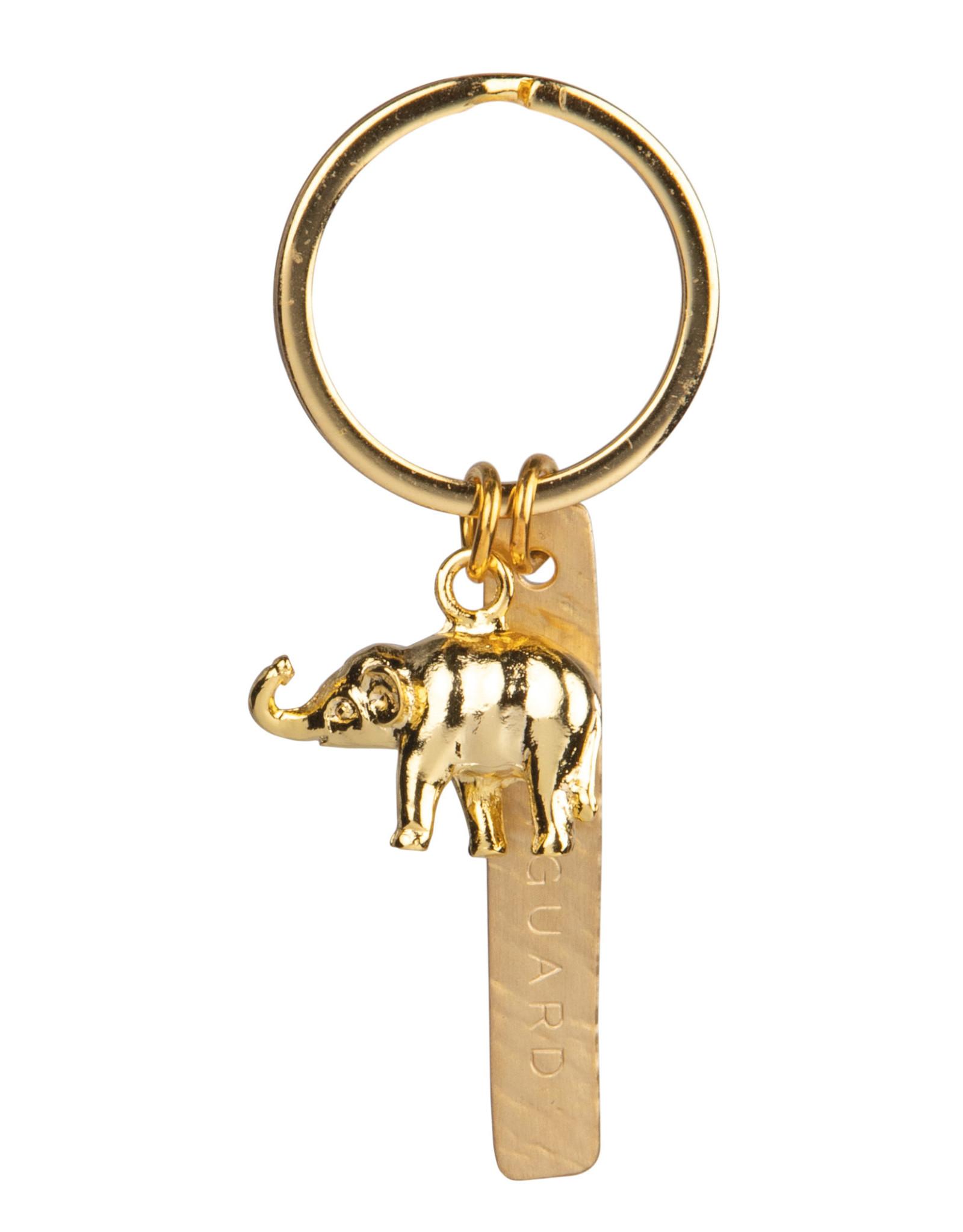Raeder Sleutelhanger Bodyguard  olifant goud 5x3cm, gold