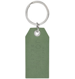Raeder Key ring hangtag And so the journey, 7,5x3,5cm