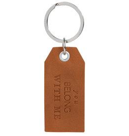 Raeder Key ring hangtag You belong with me, 7,5x3,5cm