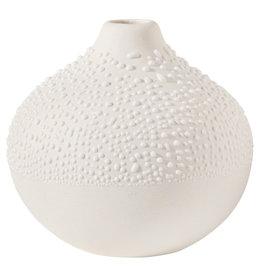 Raeder Vaas gepareld beige Design 2 white, dia:7cm Height:6,5cm