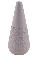 Raeder Vaas gepareld Design 5 warm grey dia.6cm Height:14cm