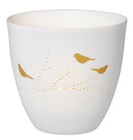 Raeder Theelicht birds gold