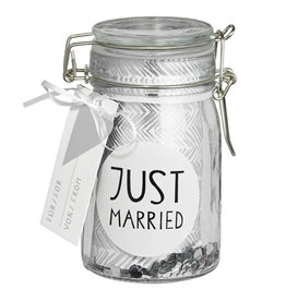 Raeder Gift glass Just married H:12cm, dia:6cm