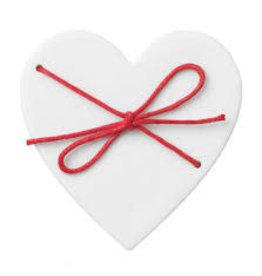 Raeder Doosje porselein wit hart met rood touw