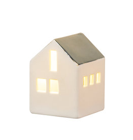 Raeder Huis mini LED gouden dak L 7cm