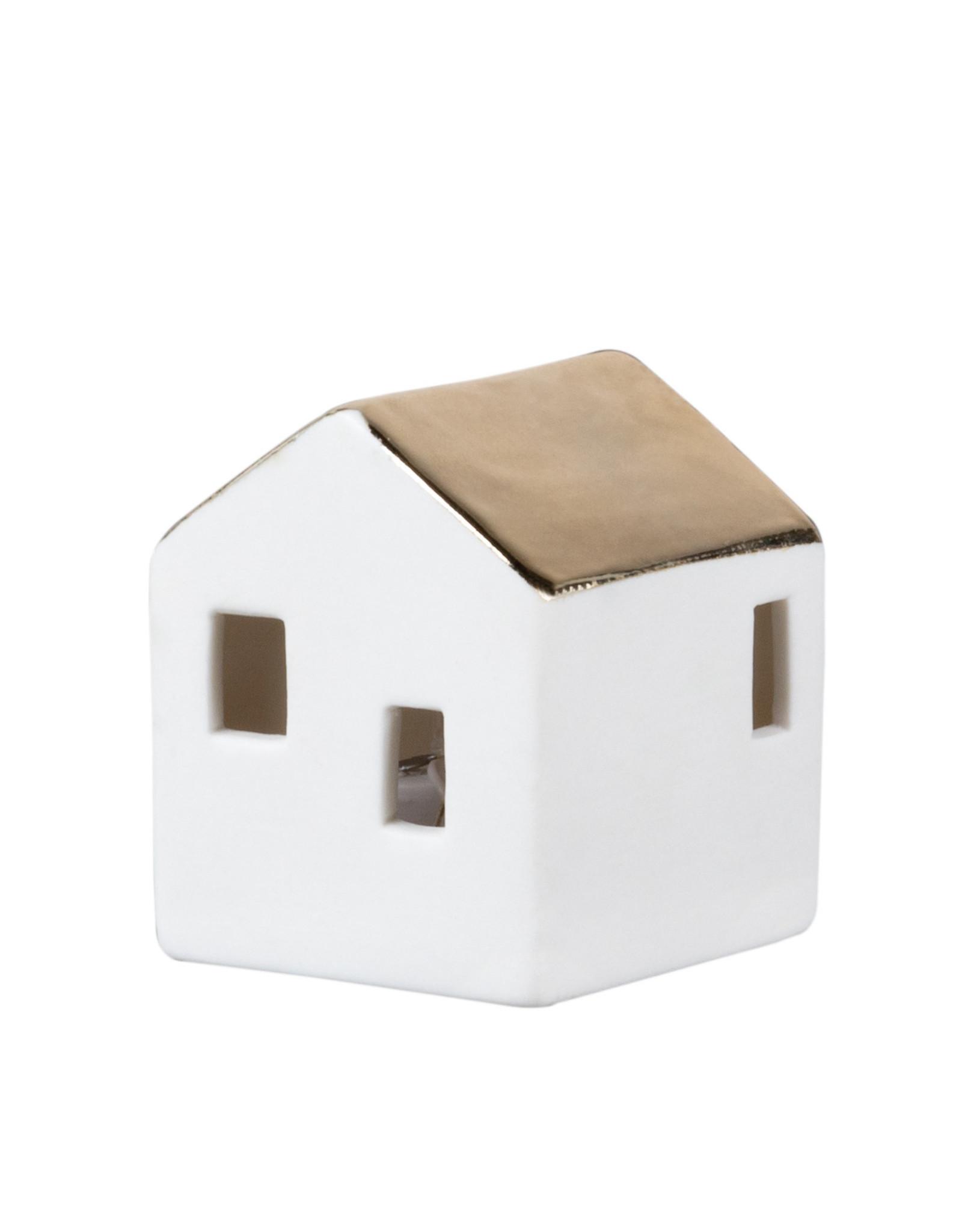 Raeder Huis mini LED gouden dak M 5cm