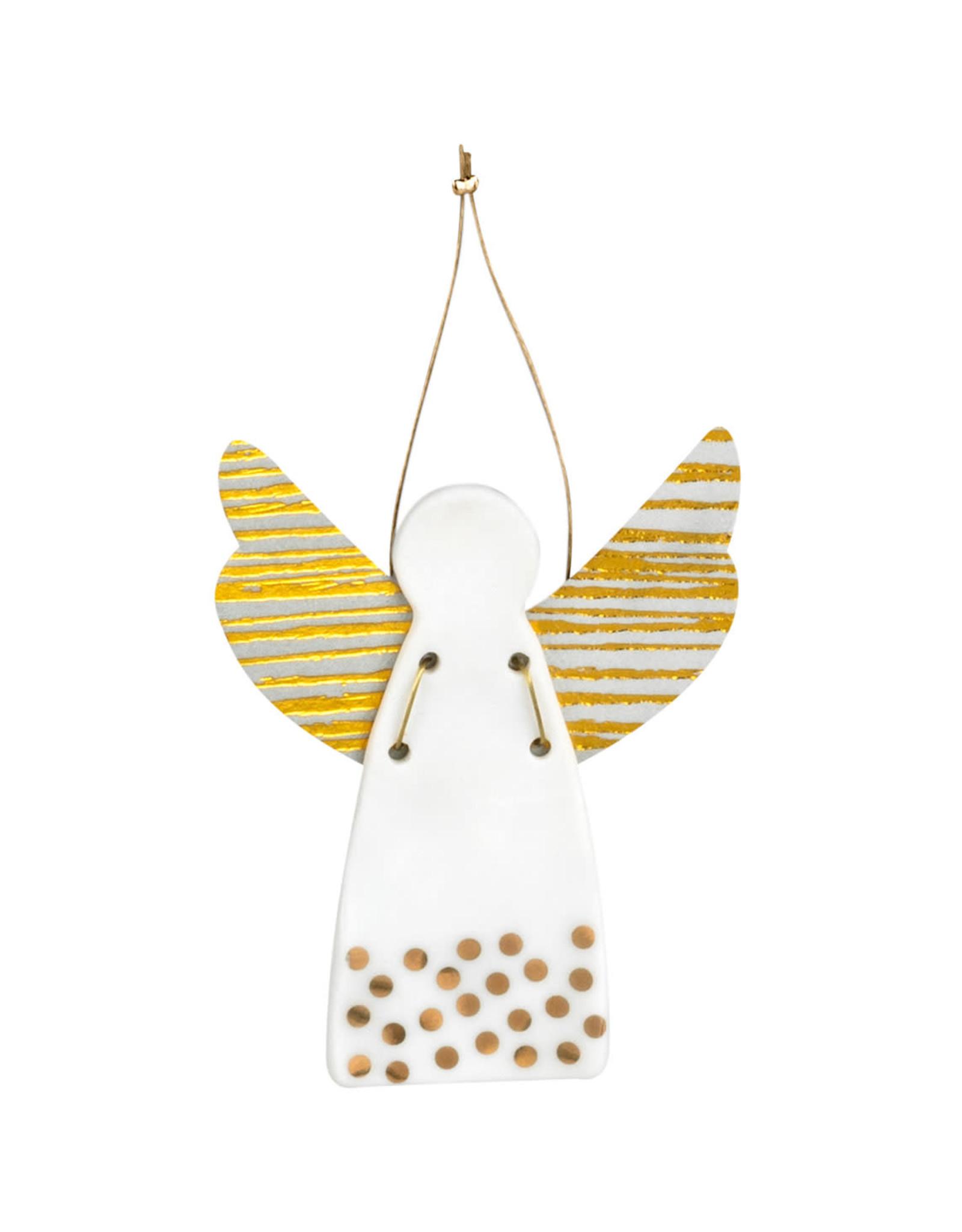 Raeder Beschermengel hanger bollen goud 9cm