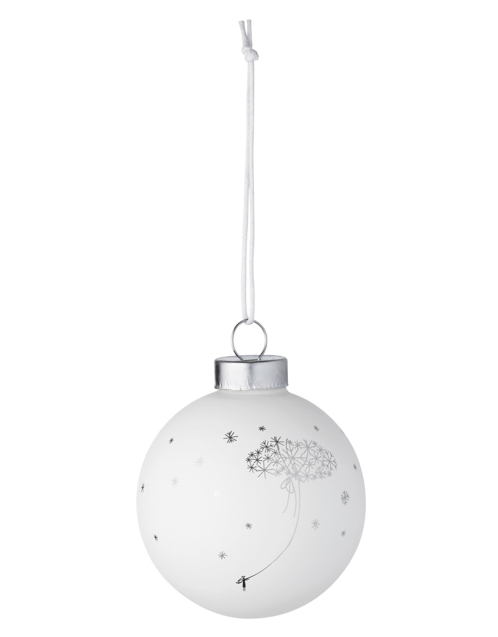 Raeder Kerstbal wit cloud  7cm