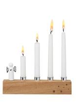 Raeder Kandelaar met engel zilver advent 4 kaarsen 17x7cm
