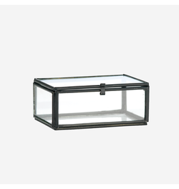 Madam Stolz Glazen doos zwart  4,5x6x3,5