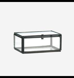 Madam Stolz Glazen doos - Zwart - 8,5 x 6 x 3,5 cm