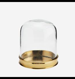 Madam Stolz Stolp glas met gouden bodem - Ø 9 x H 10 cm