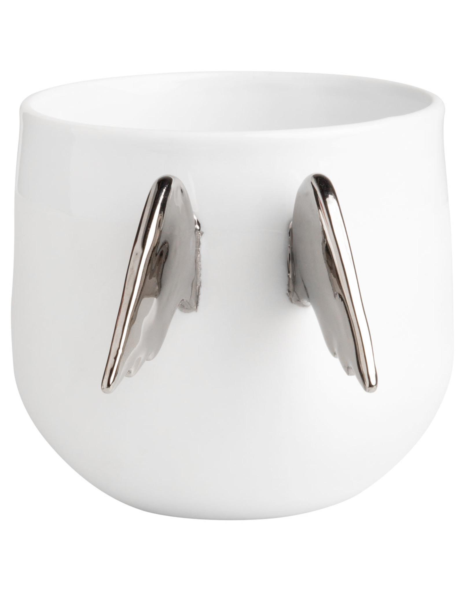 Raeder Mok met engelenvleugels zilver d:9,5cm x 8,5cm