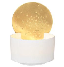 Raeder Theelicht met gouden zon de op de rand small dia:7cm Height:4,5cm